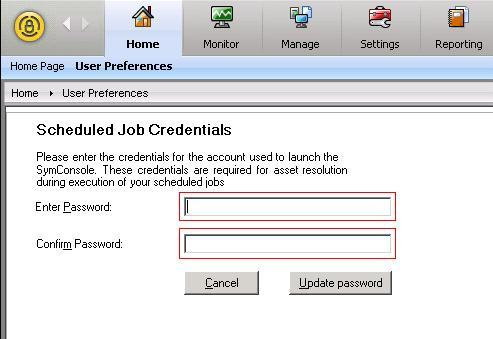 Scheduled Job Credentials
