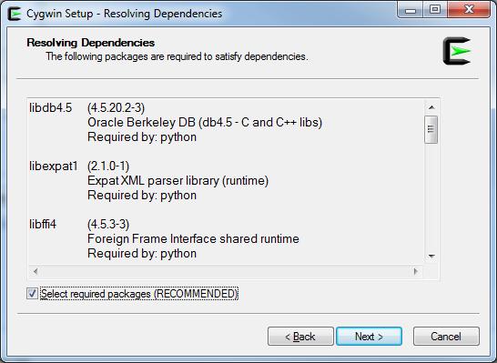 Resolving Dependencies